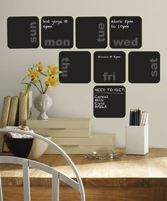 Look at this Days of the Week Planner Chalkboard Wall Decal - Set of Eight on #zulily today!