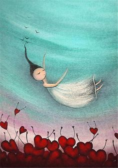Acrylic painting with a touch of digital from my series of quirky whimsicla art inspired by love life and freedom / copyrighted © Amanda cass 2010 / thanks for looking and your comments xx Images Victoriennes, Art Fantaisiste, Illustrator, Art Mignon, Fall Canvas, Art Carte, Art Asiatique, Art Et Illustration, Pics Art