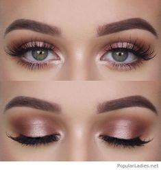 Natural makeup for green eyes, love it
