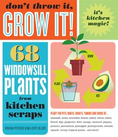 Don't Throw it, Grow it! Review from The Etsy Blog.  This is a great review of the book, Don't Throw it, Grow it!.  The book includes tips on how to grow houseplants from fruit and veggie scraps, including sweet potato, chickpeas, mango and water chestnuts.  A great indoor gardening book for kids and adults!