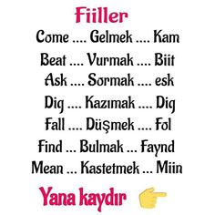 English Time, English Words, Learn English, Learn Turkish Language, English Reading, Adverbs, English Language Learning, Travel And Leisure, Sentences