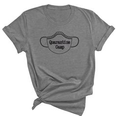 Quarantine Camp, Face Mask, Social Distancing T-Shirt, Plus Size to 5X,  Personalized, Funny T-Shirt, Self Quarantine, Wash Your Hands by ButlerTees on Etsy Plus Size T Shirts, Funny Tshirts, Camping, Hands, Trending Outfits, Face, Mens Tops, Etsy, Fashion