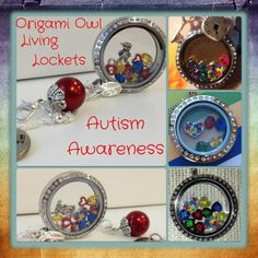 Autism Awareness Locket Ideas - Tell your story with an Origami Owl living locket Like it, place an order. Love it, host a show...Want it all, join my team! #54057 origamicharms@gmail.com https://www.facebook.com/pages/Origami-Owl-Paula-Hinson-Independent-Designer/419326878190030?ref=hl