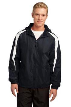 Sport-Tek JST81 Fleece-Lined Colorblock Jacket #sporttek #coachjacket