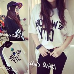 Buy 'QZ Lady – Lettering Long T-Shirt' with Free International Shipping at YesStyle.com. Browse and shop for thousands of Asian fashion items from China and more!