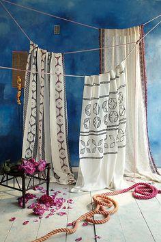 Rideau exotique pour un décor boho chic, ethnique ou naturel