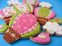 N.M. Galletas Artesanas: Galletas decoradas: globos de patchwork