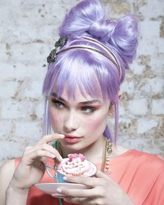 Love the lilac hair color Lavender Hair, Lilac Hair, Hair Color Purple, Pastel Hair, Ombre Hair, Purple Style, Pastel Purple, Hair Rainbow, Pin Up