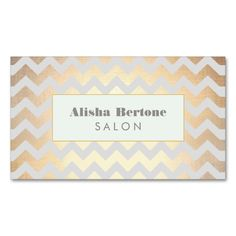Gold Chevron Pattern Salon and Spa Gray and Blue Double-Sided Standard Business Cards (Pack Of 100). I love this design! It is available for customization or ready to buy as is. All you need is to add your business info to this template then place the order. It will ship within 24 hours. Just click the image to make your own!
