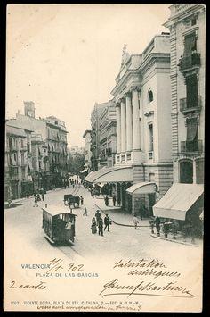 Plaza de las Barcas. Valencia, 1902. Fotografía de Hauser y Menet.