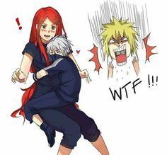 Minato: Get off Kakashi!!!!!!  -luffy
