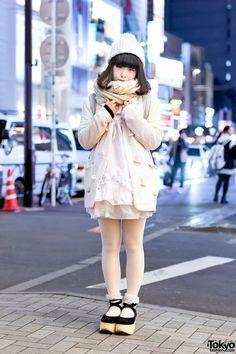 Keisuke Kanda Pastel Blazer, Tulle Skirt & Tokyo Bopper Platforms in Harajuku (Tokyo Fashion, 2015)