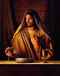 """Jesus: """"My body and blood, broken for you, that you may have eternal life. Eat in remembrance of me."""""""