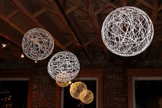 String Chandeliers- DIY wedding decoration Cute looks fun to make