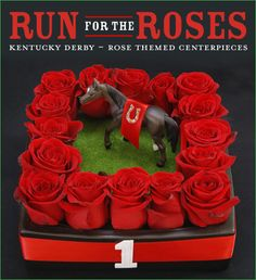 Kentucky Derby Party: Run for the Roses Centerpiece Ideas // Hostess with the Mostess®