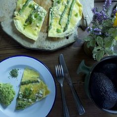 Our wild Welsh Omelette with feta cheese and asparagus is finished with locally foraged wild garlic infused sea salt, taking this humble omelette to a whole other level.