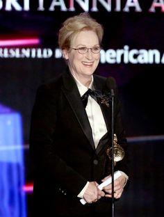 Pin for Later: Die Hollywood-Stars feierten bei den Britannia Awards Meryl Streep