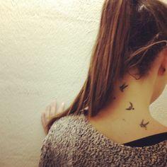 13 Meilleures Images Du Tableau Tatouage Oiseaux Nuque Cute