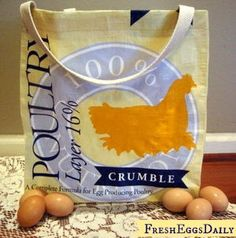 Fresh Eggs Daily®: DIY Make your own Feed Bag Market Tote Tutorial