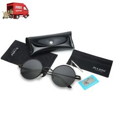 aae44256a0 Joopin-Round Retro Polaroid Sunglasses Driving Polarized Top Quality Lens  NEW  Joopin  unisexadult