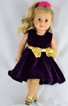 Gorgeous Dress, 18 inch Doll Clothes pattern, PDF Sewing Pattern fits most 18 inch dolls, American Girl doll clothes patterns American Doll Clothes, Girl Doll Clothes, Girl Dolls, Barbie Clothes, Barbie Stuff, Ag Dolls, Poupées Our Generation, Baby Boy Accessories, Doll Dress Patterns
