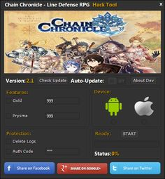 Chain Chronicle Hack Cheats Tool  Chain Chronicle Hack is Modhacks.com a new tool, that we all want to present to you. If you ever glimpse at all the other hacks on line, this amazing tool is the most effective. This specific tool was made to be functioning on Android os and iOS devices. That …