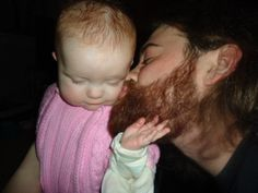 boys with beards with babies!