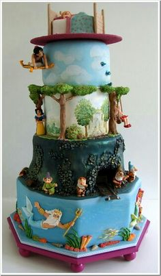 From Wall-E and Eve Love Cake to the Up movie cake let's look at these awesome Disney cakes. Pretty Cakes, Cute Cakes, Beautiful Cakes, Amazing Cakes, Yummy Cakes, Beautiful Things, Crazy Cakes, Fancy Cakes, Pink Cakes