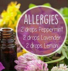 Aromatherapy recipe for Allergies