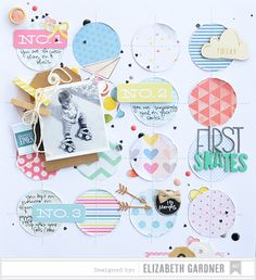 Lovely scrapbook layout inspiration created using some of our most popular brands and products. Design by Elizabeth Gardner. #americancrafts