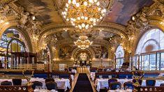 Le Train Bleu Gare de Lyon Place Louis Armand 75012 Restaurant fréquenté par de grandes vedettes comme Brigitte Bardot, Marcel Pagnol, Jean Cocteau ou encore Colette.