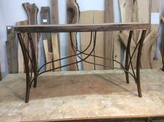 Ohiowoodlands Console Table Base. Steel Sofa Table Legs. Accent Table Base.  Sofa Table