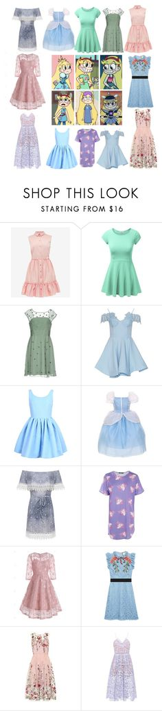 """""""Star Butterfly"""" by area2002 on Polyvore featuring Ted Baker, Intropia, WearAll, Boohoo, Gucci and self-portrait"""