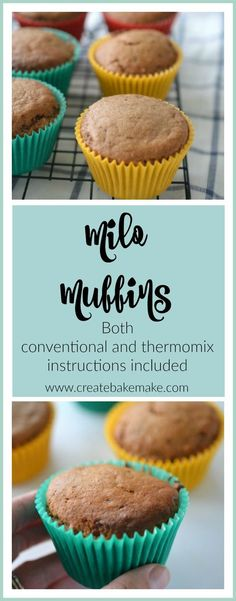 Healthy Meals For Kids These Milo Muffins make a great treat for the kids (and grown ups too) and are perfect for lunch boxes or after school snacks. Both regular and thermomix instructions included. Cooking With Kids Easy, Kids Cooking Recipes, Gourmet Recipes, Kids Meals, Sweet Recipes, Healthy Cooking, Healthy Meals, Cooking Rice, Cooking Salmon