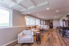 Modern Farmhouse Basement Finish