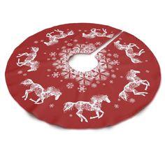 Christmas Snowflake Horse Tree Skirt - The Painting Pony