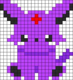 Baby Espeon Perler Bead Pattern / Bead Sprite