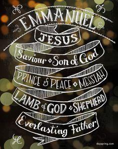 Names of Jesus - Emmanuel - The reason for the season!