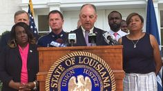 Gov. John Bel Edwards helda news conference Wednesday morningto discuss issues related to the officer-involved shooting that resulted in the death of Alton Sterling.