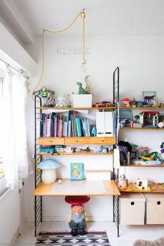 petit monde, kids room shelving, gnome table by Kartell