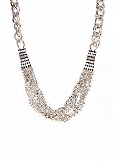 Chunky necklaces = best way to accessorize