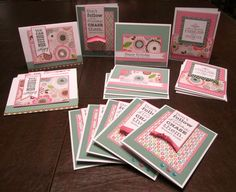 Just Sayin'...: Cards using CTMH Lollydoodle Paper