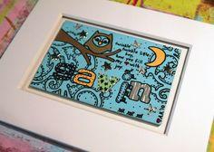 Personalised hardboard nursery art