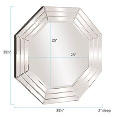 Shop for Allan Andrews Jessica Octagon Mirror. Get free shipping at Overstock.com - Your Online Home Decor Outlet Store! Get 5% in rewards with Club O! - 24254901