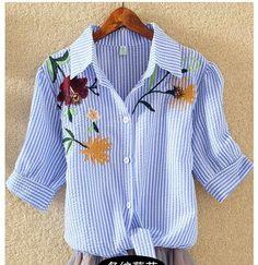 Chemisier Femme Summer 2017 Ladies blouse Plus Size Cotton Women Blouses Embroidery Shirt Womens Short Sleeves Korean Clothes