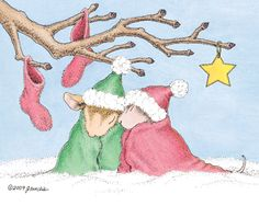 """""""Amanda and Muzzy"""" from House-Mouse Designs® featured on the The Daily Squeek® for 12/23/2012. Click on the image to see it on a bunch of really """"Mice"""" products."""