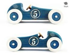 Blue Racing car - natural look wood toy -Stylised Blue Racing car - natural look wood toy - Stylised Blue Racing car natural look wood toy Yellow Decorative Wooden Toy Cars, Wooden Truck, Making Wooden Toys, Handmade Wooden Toys, Boys Car Bedroom, Wood Toys Plans, Toddler Boy Gifts, Wood Carving Designs, Pull Toy