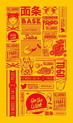 On The Wok restaurant branding and interiors