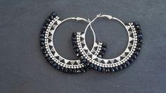 Tribal Earrings, Seed Bead Earrings, Beaded Earrings, Lace Jewelry, Handmade Jewelry, Jewellery, Earring Tutorial, Jewelry Design, Jewelry Making