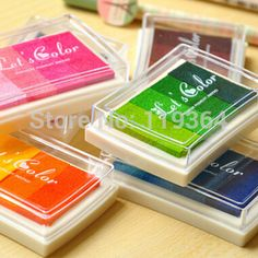 Find More Stamps Information about Minimum order $10 (Mix order)Free shipping Do multicolour large inkpad  Gradient color inks stamp Kute office supply,High Quality supplies information,China ink vivera Suppliers, Cheap supply risk from Min order $10 department store on Aliexpress.com